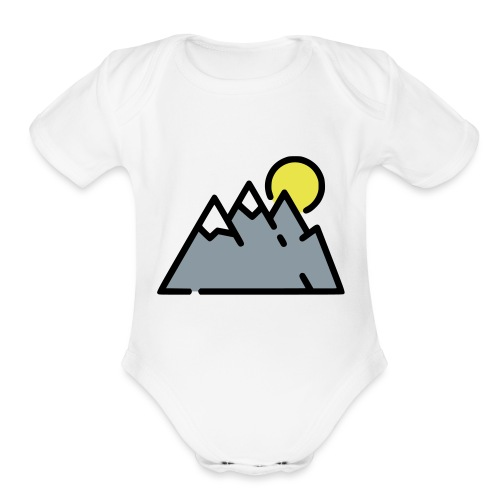 The High Mountains - Organic Short Sleeve Baby Bodysuit