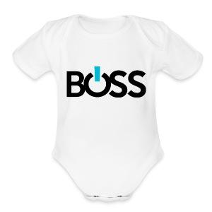 Boss Logo CMYK - Short Sleeve Baby Bodysuit
