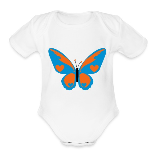 Butterfly with Love - Organic Short Sleeve Baby Bodysuit