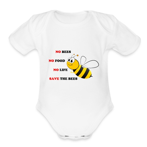 save the bees - Organic Short Sleeve Baby Bodysuit