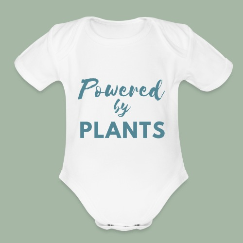 Powered by Plants - Organic Short Sleeve Baby Bodysuit