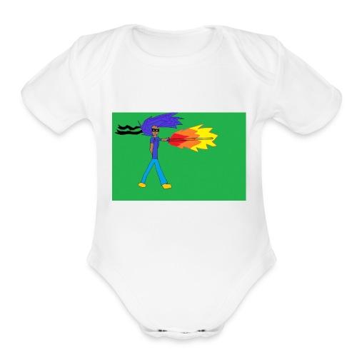 blazing_sky_katana - Organic Short Sleeve Baby Bodysuit