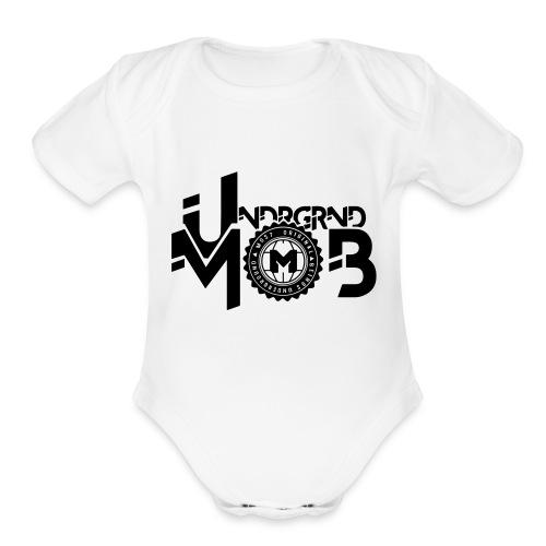 UMOB Black - Organic Short Sleeve Baby Bodysuit