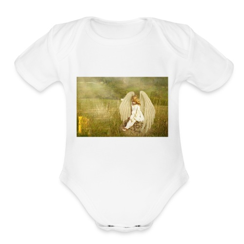 An Angel to Watch Over You - Organic Short Sleeve Baby Bodysuit