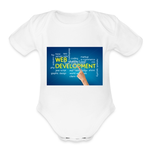web development design - Organic Short Sleeve Baby Bodysuit