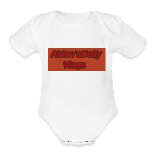 Aidan'sDailyVlogs Tshirts style#2 - Organic Short Sleeve Baby Bodysuit