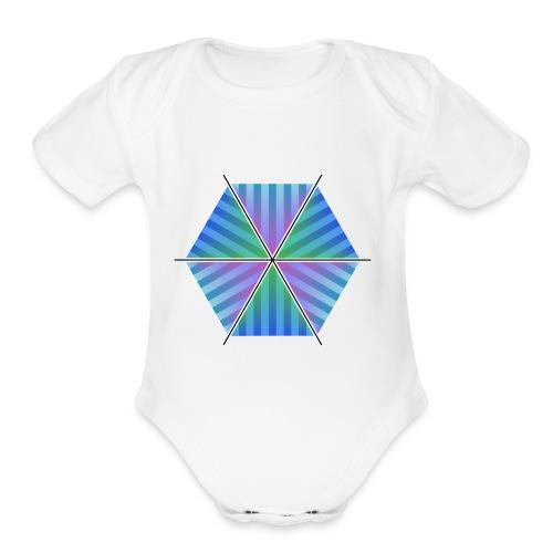 Hexagon of Eternality - Organic Short Sleeve Baby Bodysuit