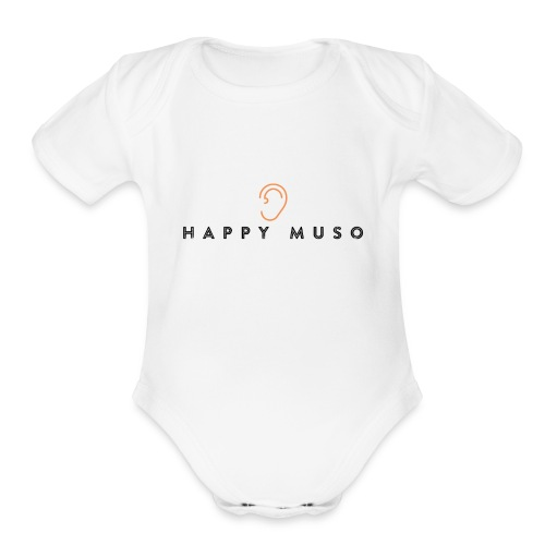 Happy Muso Official - Organic Short Sleeve Baby Bodysuit