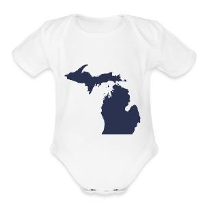 MI Michigan - Short Sleeve Baby Bodysuit