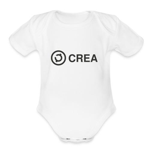 logo + CREA - Organic Short Sleeve Baby Bodysuit