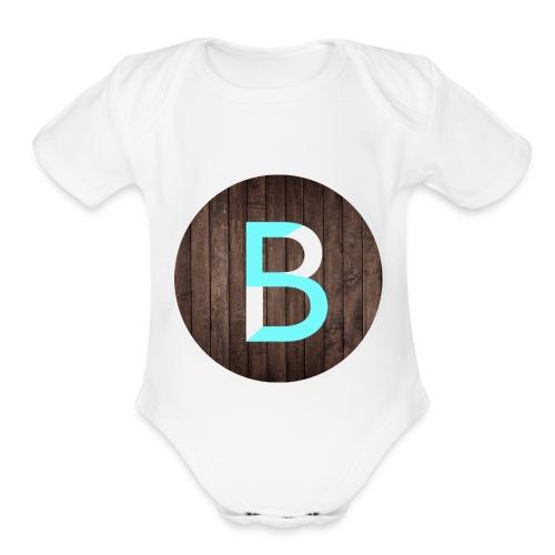 updated logo - Organic Short Sleeve Baby Bodysuit