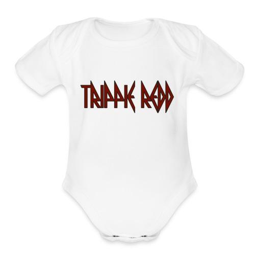 trippie redd logo - Organic Short Sleeve Baby Bodysuit