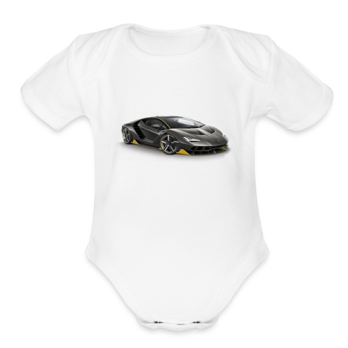 lambo shirts. - Organic Short Sleeve Baby Bodysuit