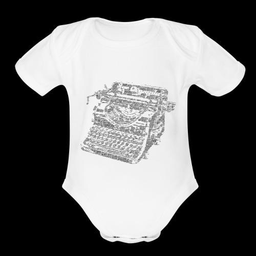 Typewritten Logophile - Organic Short Sleeve Baby Bodysuit