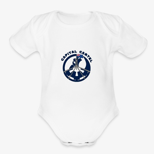 Cartel Blue - Organic Short Sleeve Baby Bodysuit