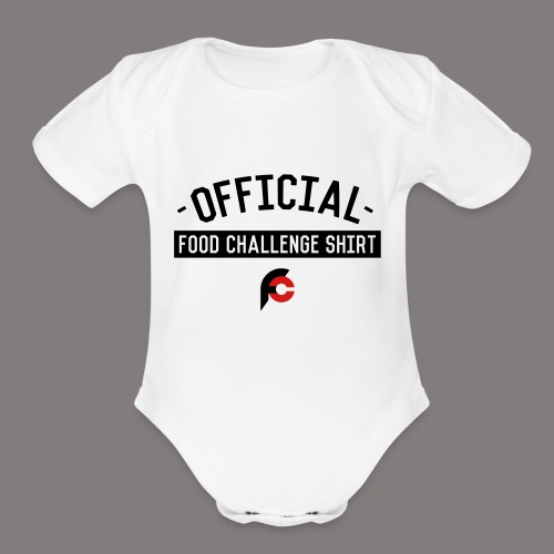 Official Food Challenge Shirt 2 - Organic Short Sleeve Baby Bodysuit