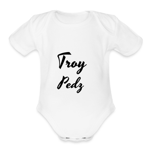 Name Logo - Organic Short Sleeve Baby Bodysuit