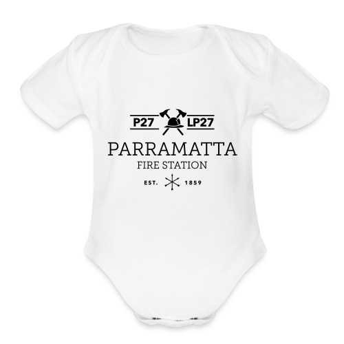 Parramatta Fire Station B - Organic Short Sleeve Baby Bodysuit