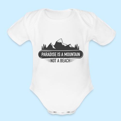 MOUNTAIN PARADISE - Organic Short Sleeve Baby Bodysuit