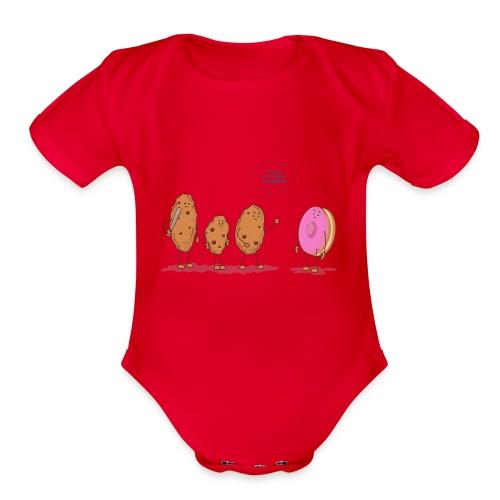 cookies - Organic Short Sleeve Baby Bodysuit