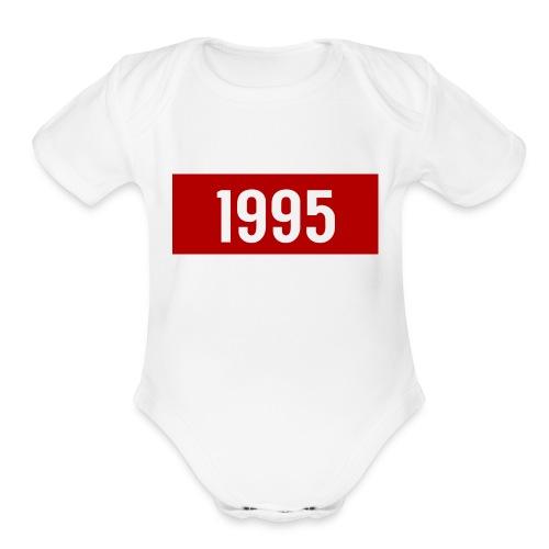 year 1995 - Organic Short Sleeve Baby Bodysuit