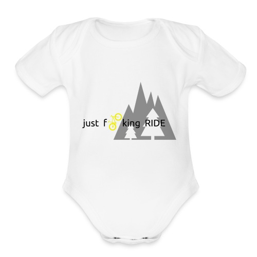 Mountain Biking JFR - Organic Short Sleeve Baby Bodysuit
