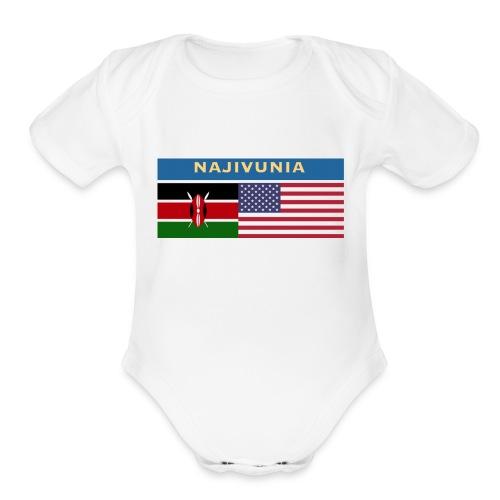 NAJIVUNIA - Organic Short Sleeve Baby Bodysuit