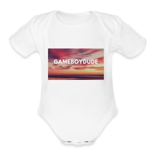 GameBoyDude merch store - Organic Short Sleeve Baby Bodysuit