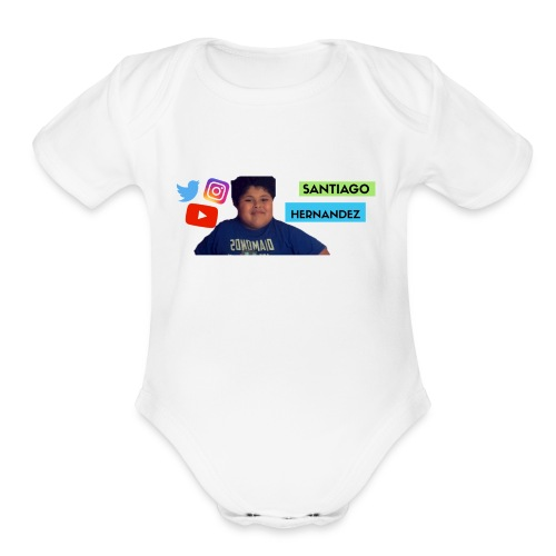 Santiago social media - Organic Short Sleeve Baby Bodysuit