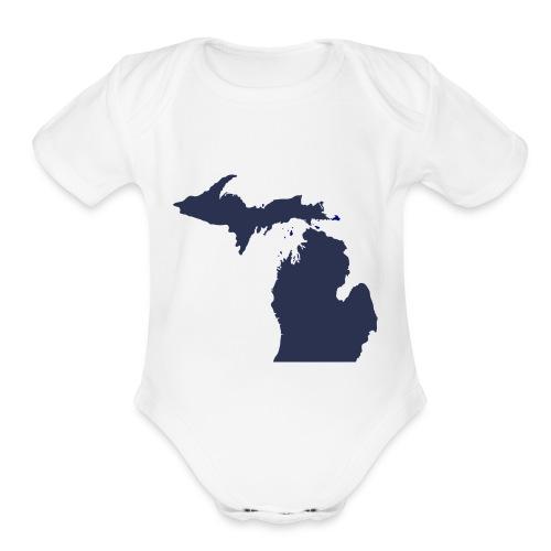 MI Michigan - Organic Short Sleeve Baby Bodysuit