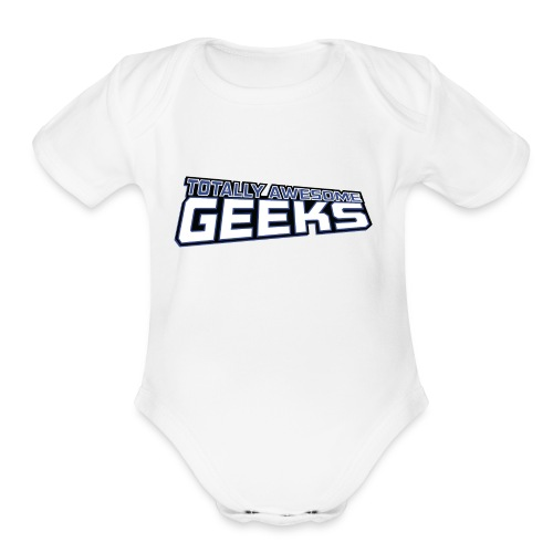 Logo For Totally Awesome Geeks - Organic Short Sleeve Baby Bodysuit