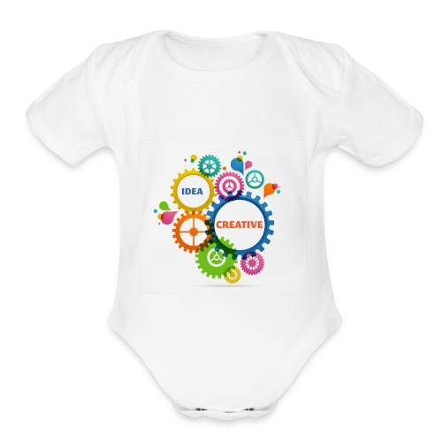 Think Outside the box - Organic Short Sleeve Baby Bodysuit