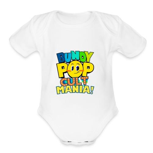 Bundy Pop Main Design - Organic Short Sleeve Baby Bodysuit