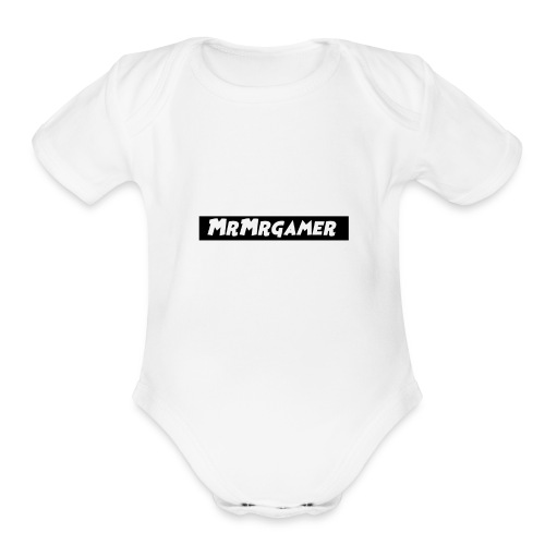 MrMrgamer - Organic Short Sleeve Baby Bodysuit