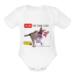 Sub to the Cat - Short Sleeve Baby Bodysuit