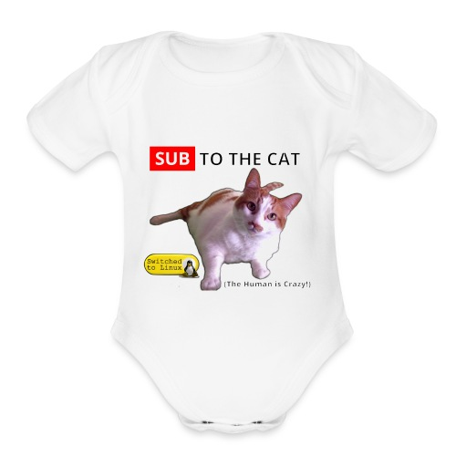 Sub to the Cat - Organic Short Sleeve Baby Bodysuit