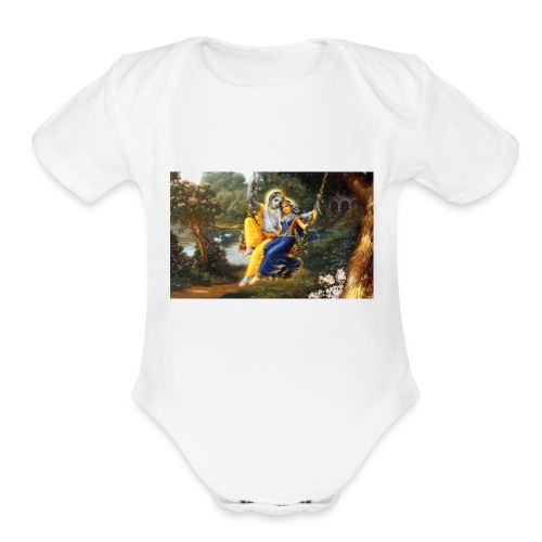 Radha Krishna Wallpaper 1440x900 - Organic Short Sleeve Baby Bodysuit