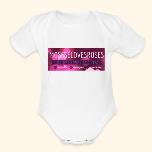MOSESELOVESROSES - Organic Short Sleeve Baby Bodysuit