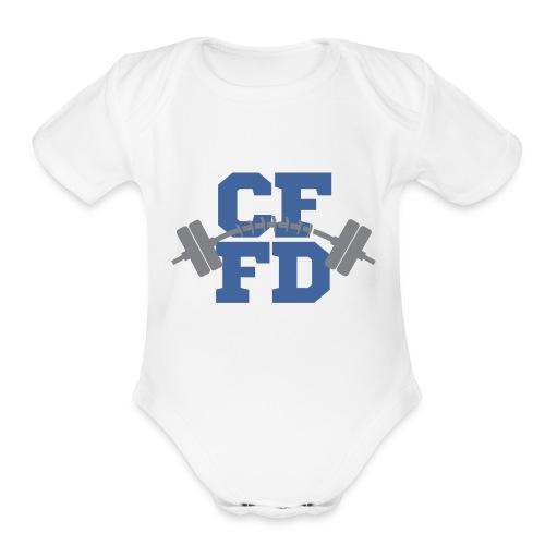 CFFD Barbell Logo - Organic Short Sleeve Baby Bodysuit