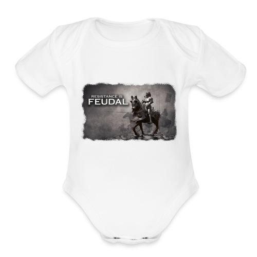 Resistance is Feudal 2 - Organic Short Sleeve Baby Bodysuit
