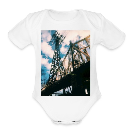 Ed Koch bridge - Organic Short Sleeve Baby Bodysuit