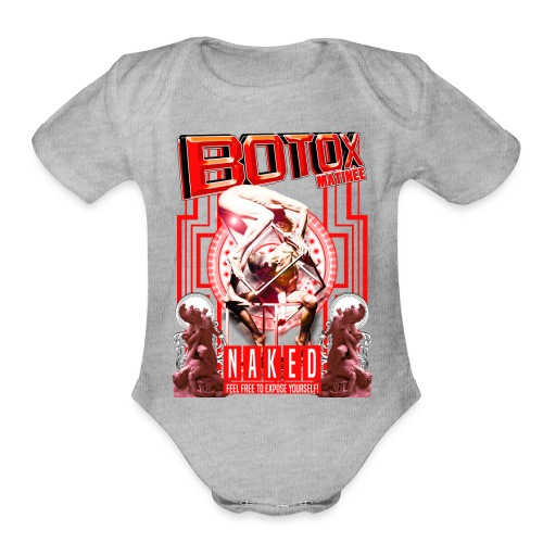 BOTOX MATINEE NAKED 2 T-SHIRT - Organic Short Sleeve Baby Bodysuit