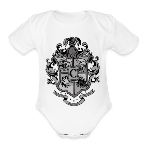 Coat of Arms with Bunny - Organic Short Sleeve Baby Bodysuit
