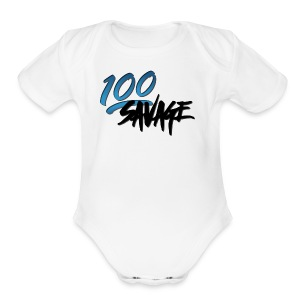 100savge - Short Sleeve Baby Bodysuit