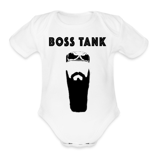 Beard Bandana MERCH - Organic Short Sleeve Baby Bodysuit