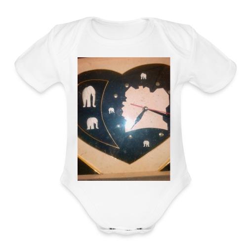 Art - Organic Short Sleeve Baby Bodysuit