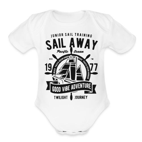 sail away good vibe adventure 1 - Organic Short Sleeve Baby Bodysuit