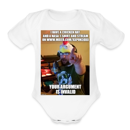 Your Argument is invalid - Organic Short Sleeve Baby Bodysuit