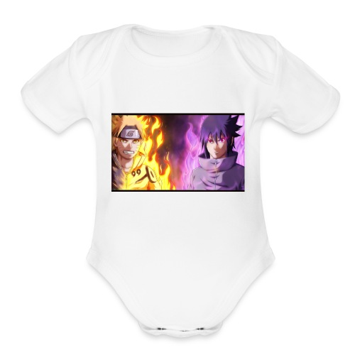 Naruto ad Sasuke - Organic Short Sleeve Baby Bodysuit