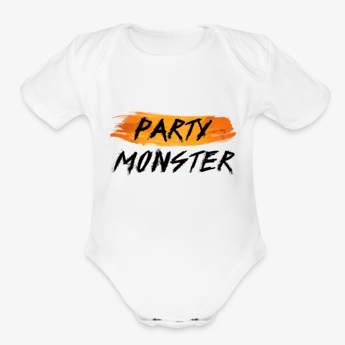 Party Monster Simple - Organic Short Sleeve Baby Bodysuit